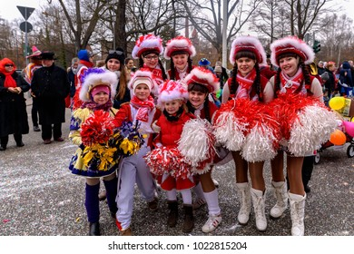 Germany , 02.11.2018 , Cottbus , Carnival procession, a group of parades at a young age