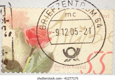 GERMANY - 2005: A stamp printed in Germany shows image celebrating Marksman's Festival (Schutzenfest), series, 2005