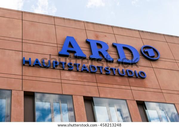 GERMANY - 22 JULY 2016: logo German television station ARD