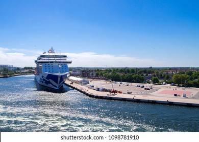 Germany , 24.05.2018 , Rostock , The cruise ship Regal Princess is located in the port of Rostock