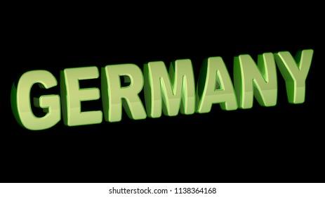 Germany. 3D Illustration.