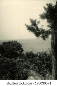 GERMANY -   April, 1963: An antique photo shows seascape