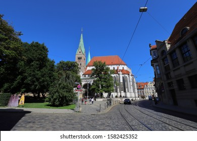 GERMANY, AUGSBURG - AUGUST 18, 2019: Cathedral in Augsburg