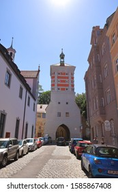 GERMANY, AUGSBURG - AUGUST 18, 2019: Rotes Tor in Augsburg