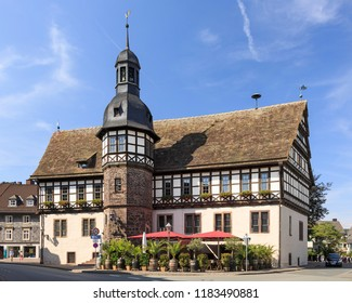 Höxter, Germany - August 1 2015: City views of Höxter with half-timbered houses - masterpieces of German traditional architecture.