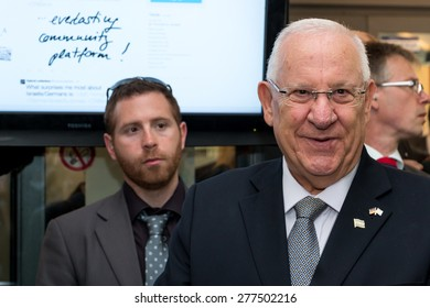 GERMANY, BERLIN, 12 MAY 2015 -  Reuven Rubi Rivlin Israels president visits Berlin for the 50 years of Israel - Germany diplomatic relationship