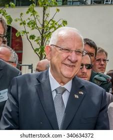 GERMANY, BERLIN, 12 MAY 2015 - Reuven Rubi Rivlin Israels president visits Berlin for the 50 years of Israel - Germany diplomatic relationship
