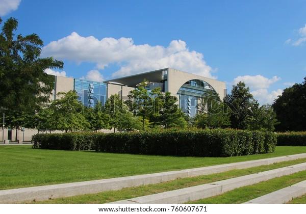 GERMANY, BERLIN - AUGUST 15, 2013: German Chancellery in Berlin