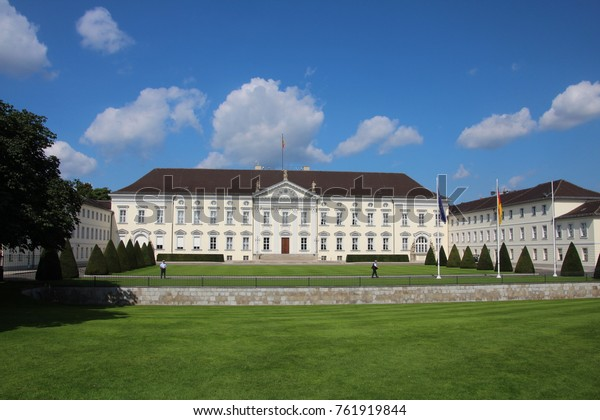 GERMANY, BERLIN - AUGUST 15, 2013: Bellevue Palace in Berlin is the official residence of the President of Germany