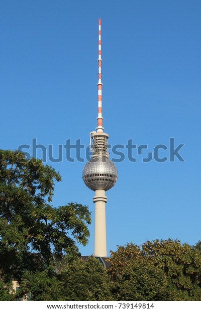 GERMANY, BERLIN - AUGUST 16, 2013: The Television tower in Berlin