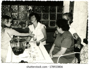 GERMANY, BERLIN - CIRCA 1960s: An antique photo of party