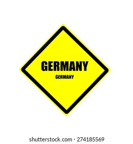 Germany Black stamp text on yellow background