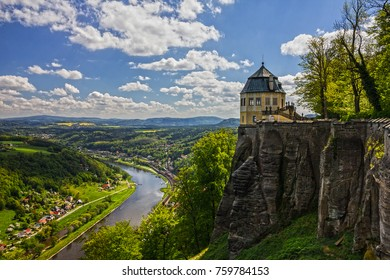 Germany. Castle Koenigstein.Saxon Switzerland