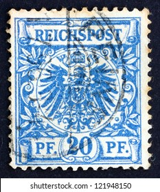GERMANY - CIRCA 1889: a stamp printed in the Germany shows Coat of Arms of Germany, circa 1889