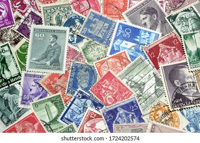 Germany - circa 1900-1945 : Postage stamps printed by Germany, that shows Reich stamps, circa 1900-1945.