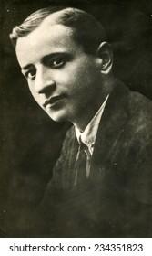 GERMANY, CIRCA 1920s: Vintage photo of man
