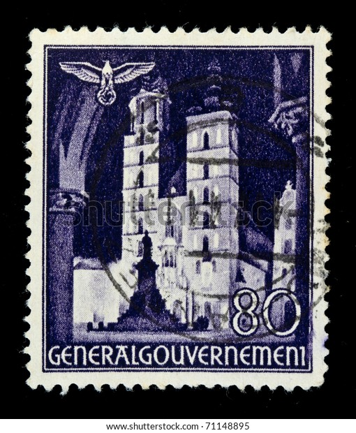 Germany Circa 1940s Stamp Printed Germany Stock Photo (Edit Now