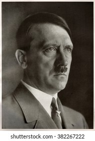 GERMANY - CIRCA 1940s: Studio portrait of Adolf Hitler, leader of nazi Germany. Reproduction of antique photo.