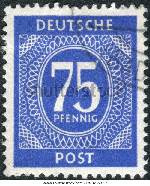 Germany Circa 1946 Postage Stamp Printed Stock Photo (Edit Now
