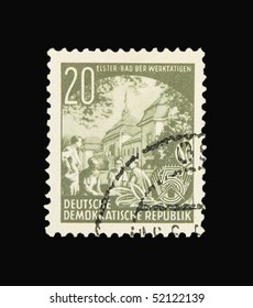 GERMANY - CIRCA 1956: A stamp printed in Germany showing Elster Bad, circa 1956