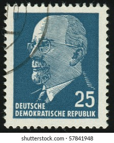 GERMANY- CIRCA 1961: stamp printed in Germany, shows Chairman Walter Ulbricht, circa 1961.