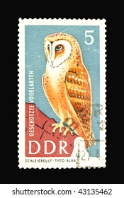 GERMANY - CIRCA 1967: A stamp printed in Germany showing owl, circa 1967