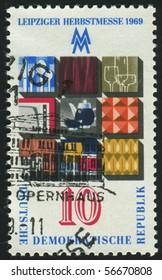 GERMANY - CIRCA 1969: stamp printed by Germany, shows Burghausen Castle, Burghausen, circa 1969.
