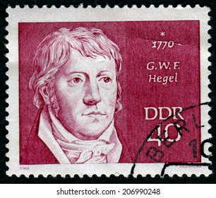 GERMANY - CIRCA 1970: a stamp printed in the Germany shows Georg Wilhelm Hegel, Philosopher, circa 1970