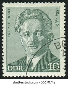 GERMANY - CIRCA 1974: stamp printed by Germany, shows Fritz Heckert, circa 1974.