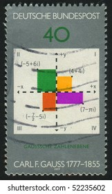 GERMANY  - CIRCA 1977: stamp printed in Germany, shows Gauss plane of complex numbers,  circa 1977.