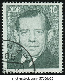 GERMANY- CIRCA 1983: stamp printed by Germany, shows Charles Maron, circa 1983.
