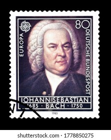 GERMANY - CIRCA 1985 : Cancelled postage stamp printed by Germany, that shows Johann Sebastian Bach, circa 1985.