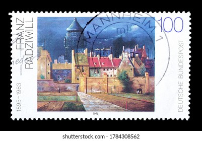 GERMANY - CIRCA 1995 : Cancelled postage stamp printed by Germany, that shows painting by Franz Radziwill, circa 1995.
