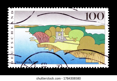 GERMANY - CIRCA 1995 : Cancelled postage stamp printed by Germany, that shows Havel landscape, circa 1995.