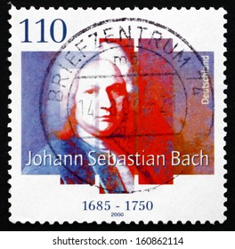 GERMANY - CIRCA 2000: a stamp printed in the Germany shows Johann Sebastian Bach, composer and musician, of the Baroque Period, circa 2000