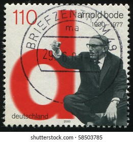 GERMANY- CIRCA 2000: stamp printed by Germany, shows Arnold Bode, Artist, circa 2000.