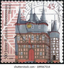 GERMANY -CIRCA 2009: A stamp printed in Germany shows City town hall in Germany, circa 2009.