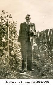 GERMANY, CIRCA FORTIES - Vintage portrait of man