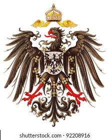 Germany coat of arms / vintage illustration from Meyers Konversations-Lexikon 1897
