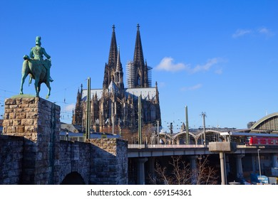 Germany. Cologne Cathedral. Cologne Cathedral is a Roman Catholic Gothic Cathedral in Cologne (Germany), which ranks third in the list of the tallest churches in the world .