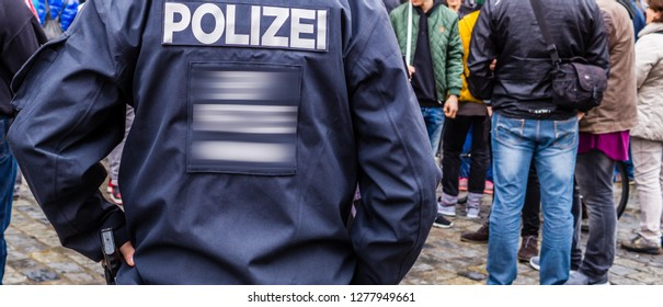 Germany Demo with Police