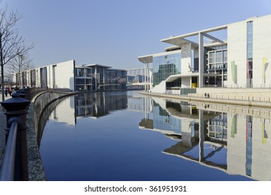 GERMANY - FEBRUARY 27: Marie-Elisabeth-Luders-Haus - the building of public administration at the river Spree. February 27, 2015 in Berlin