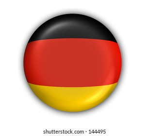 Germany Flag Button - White