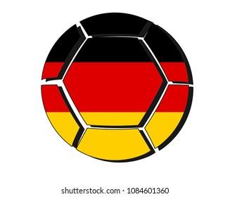 Germany flag on football ball, 2018 Championship