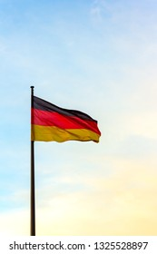 The germany flag on a mast