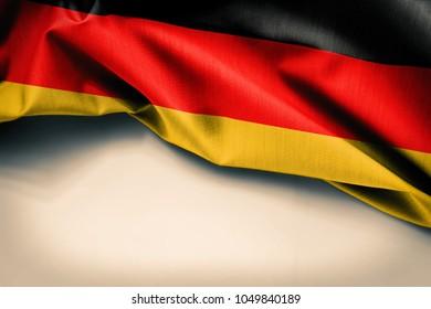 Germany Flag On Plain Background