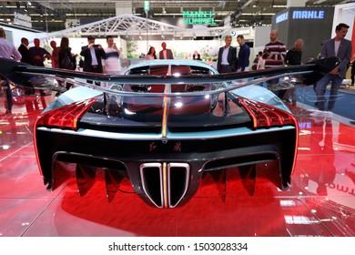 Germany, Frankfurt - 10.September 2019: Hongqi S9 - supercar with 1400 hp from China - IAA Car Show Frankfurt 2019