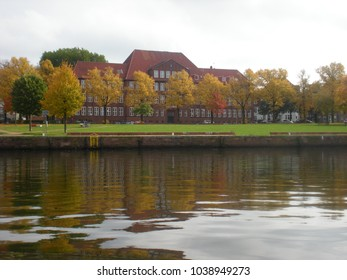 Germany, the golden autumn on the river Oder.
