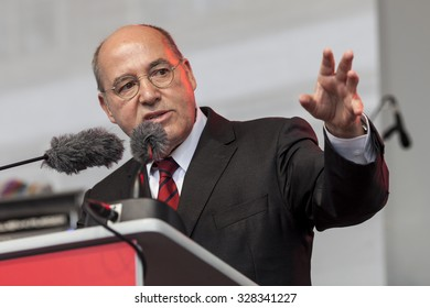 GERMANY - Gregor Gysi speaks at the last political meeting of the party Die Linke in Alexanderplatz, Berlin for the elections of the new parliament on September 20, 2013.