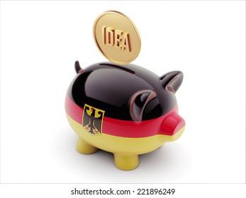 Germany High Resolution Idea Concept High Resolution Piggy Concept